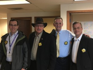 Dan Coyle, Vance Stuehrenberg, Jack Kolars and David Borchert were among several Hwy. 14 advocates who met with legislators on March 8.